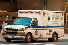 Chevy Ambulance - NY Downtown Hospital (tom_hoboken) Tags: nyc newyorkcity bus chevrolet manhattan ambulance chevy rig emc newyorkdowntownhospital
