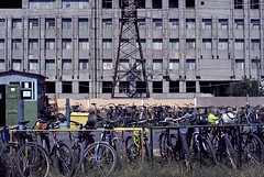 Bicycles of All Workers Unite (ross mcross.) Tags: ukraine ukraina ucrania ukrajina  ucraina  gorlovka ukrayina horlivka nikoncoolscan5000    pyotrgorlov