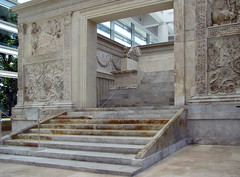 Ara Pacis, cermonial front with view of altar