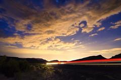 The Weekend Race to Las Vegas (Thomas Dwyer) Tags: auto longexposure sunset sky car tom night lights photo nikon desert image lasvegas wideangle tokina1224 timeexposure tomdwyer driverpic driverpics d7000 thomasdwyer