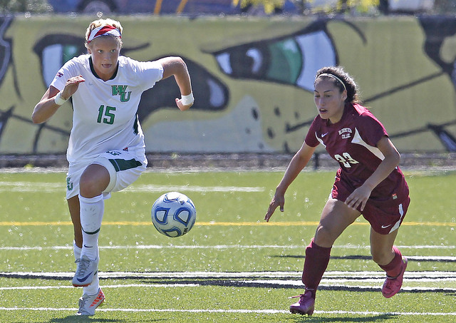 Junior Morgan Frazcowski earned Second Team NSCAA All-East Region. Tim Shaffer Photo