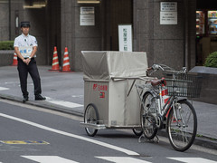 (kasa51) Tags: bicycle japan digital tokyo postoffice olympus f18 omd notred 75mm rearcar  em5   mzuiko powerassistedbicycle