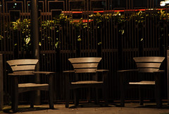 waiting for the wise monkeys (patart00) Tags: london night lights benches embankment victoriaembankment chiars