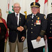 Bill Hogan, retired Fire Chief of the Charlottetown Fire Department, receives the Diamond Jubilee Medal