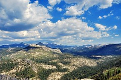 Glacier Point - Yosemite National Park (faungg) Tags: park travel blue trees sky usa mountains west green nature rock clouds landscape us nikon scenery view rocky national yosemite western halfdome    18200  d90     faungg