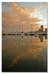 Atardecer en el puerto de Fuengirola. Explore- 26-9-2012. (Francisco J. Prez.) Tags: red naturaleza atardecer mar spain rojo agua cielo pentaxart pentaxk5 franciscojprez sigmadc1770f284hsm