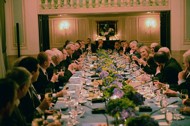 Secretary Clinton Hosts the Transatlantic Dinner
