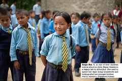 Sanju, 8 year-old, a story of a legacy and Access to Education in Nepal. (ActionAid UK) Tags: poverty charity school nepal portrait girl smile children happy education support uniform international human rights agency legacy development ngo assembly actionaid funding