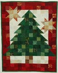 Advent calendar/Christmas quilt (tubakk-quilt) Tags: christmas tree triangles stars squares adventcalendar