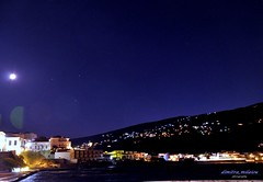 nights of silence (dimitra_milaiou) Tags: life city blue houses sea summer sky moon white beach water beautiful architecture night walking stars island lights town seaside nikon holidays europe colours village d full greece thoughts silence hora moment 90 chora andros dimitra d90     augoust    milaiou