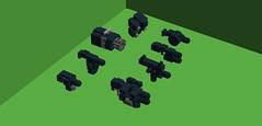 more guns (milt69466) Tags: mecha mech moc microscale mechaton mfz mf0 mobileframezero