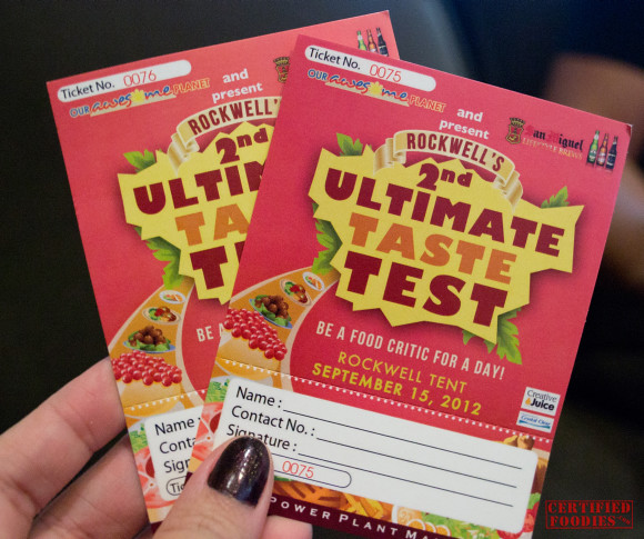 Our 2nd Rockwell Ultimate Taste Test tickets