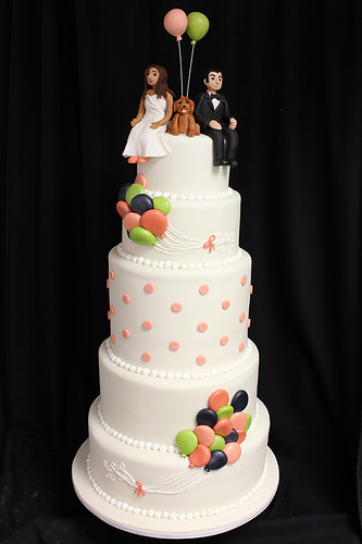Up Balloons Wedding Cake