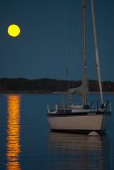 Harbor Moon Sailboat (13Miles) Tags: moon lake reflections michigan great lakes superior grand sailboats pure marais absolutemichigan amazingmich