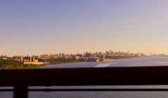 NYC from the GW bridge (andrewpabon) Tags: nyc newyorkcity newyork skyline evening sundown 28mm sigma gw georgewashingtonbridge gwbridge