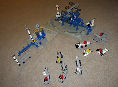 Lego Space - Sets 462, 483, 6823, 6842, 6861, 6870, 6971 (InSapphoWeTrust) Tags: lego 6861 shuttlecraft 920 483 6870 462 6842 6823 897 legospace 6971 spaceprobelauncher surfacetransport alpha1rocketbase mobilerocketlauncher x1patrolcraft intergalacticcommandbase