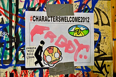 RWK (damonabnormal) Tags: street city urban streetart art philadelphia illustration graffiti nikon sticker stickerart stickers september urbanart philly graff phl rwk 2012 stickergraffiti tattooedmoms streetartshow characterswelcome d7000