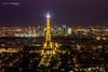 Tour Eiffel de nuit #2 (Giozza) Tags: paris tower noche toureiffel torreeiffel montparnasse lightroom tourmontparnasse