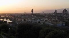 Firenze al tramonto (andbog) Tags: city sunset italy panorama canon river landscape florence italia tramonto widescreen it powershot tuscany firenze arno toscana overlook 169 paesaggio compactcamera g12 16x9 piazzalemichelangelo canong12