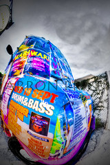Drum and Bass ice cream van A (P-rice) Tags: dance colours drum bass techno rave flyers edm bassline flyposters