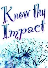 """Educational Postcard:  """"Know Thy Impact"""" (Ken Whytock) Tags: school education fireworks impact comiclife learning knowledge teachers hattie"""