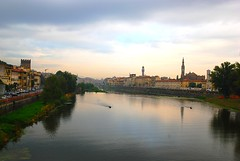 The river in Florence river in the cloudy day (SusanCK) Tags: street italy florence susancksphoto