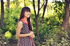 DSC_0828 copy (Lupita Campos) Tags: people green nature girl smile hair nikon dress purple bokeh d3100