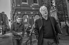 Chestnut Street, 2016 (Alan Barr) Tags: philadelphia 2016 centercity chestnutstreet street sp streetphotography streetphoto blackandwhite bw blackwhite mono monochrome candid people ricoh gr