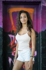 Mariam (ecker) Tags: frau graffiti mariam portrait portrt tr umgebungslicht vienna wand wien availablelight door naturallight portraiture wall woman sony a7 zeiss batis 85mm zeissbatis1885 sonnar