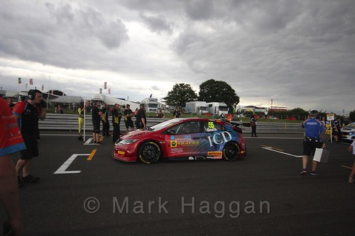 Jeff Smith's car during the Grid Walks at the BTCC 2016 Weekend at Snetterton