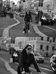 [La Mia Citt][Pedala] (Urca) Tags: milano italia 2016 bicicletta pedalare ciclista ritrattostradale portrait dittico nikondigitale mir bike bicycle biancoenero blackandwhite bn bw 881151