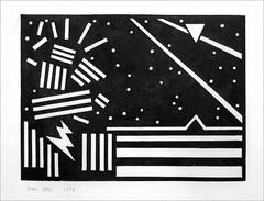 Lino print 2016. (Dave Whatt) Tags: linoprint linocut blackandwhite fineartprints vorticism surrealism