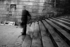 Ghost Footsteps 3 (annemcgr) Tags: blur motion slowmotion ghost footsteps paris steps monochrome blackwhite fineart annemcgrath