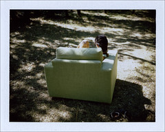 La & Eugne # 2 (FABIANI.T) Tags: mamiyauniversal mamiya polaroid instant instantan fp100c fujifilm fort forest fauteuil chair 100mmf28