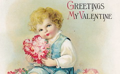 ELLEN CLAPSADDLE CUTE VALENTINE KID WITH FLOWERS Thou are all the world to me - LOVE IS IN THE AIR International Art Card Series Card 3042 (UpNorth Memories - Donald (Don) Harrison) Tags: vintage antique postcard rppc don harrison upnorth memories upnorth memories upnorthmemories michigan history heritage travel tourism michigan roadside restaurants cafes motels hotels tourist stops travel trailer parks campgrounds cottages cabins roadside entertainment natural wonders attractions usa puremichigan