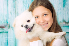 - (MissSmile) Tags: misssmile portrait smile child kid girl pet dog puppy happy happiness memories adorable sweet studio