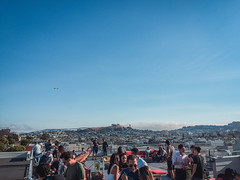 Rooftop bbq (flrent) Tags: san francisco california sf mission view street bay area potrero hill bbq barbecue rooftop