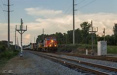CSX K421-24 at OOC 417.0 (travisnewman100) Tags: csx freight unit ethonal train ooc 4170 mile post dd defect detector ethanol cn canadian national c408w ac44cw ge ka subdivision atlanta division cartersville georgia locomotive