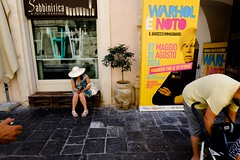 OPS! The Warhol Hand (Andrea Scire') Tags: worldstreetphotography europe italy morning journey day life urban candid ironic hand popular strange selfie me persone strada street yellow dailylife sicily place warhol vip woman sicilia thespaceinbetween color streetphotography italianstreetphotography andreascirè people fotostreetit