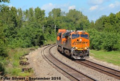 BNSF 6575 Leads WB Intermodal Shawnee, KS 9-17-16 (KansasScanner) Tags: shawnee zarah kansas bnsf railroad train