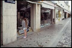 2nd of June 2016 (Paul of Congleton) Tags: june 2016 saintgillescroixdevie vende paysdelaloire france rebecca becky smallperson girl child shops shopping olympus om4ti 35mm fujichrome sensia colour slide transparency film