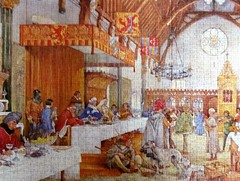 Court Jesters in Knights' Hall, 1394 (pefkosmad) Tags: jigsaw puzzle leisure hobby pastime 1000pieces complete