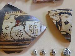 Ancient Greek Pot Fragments with curly swastika, Ukraine (CultureWise) Tags: swastika ukraine archaeology ancientgreek symbols bronzeage medieval
