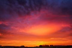 September 24 2016 Sunrise (Dan's Storm Photos & Photography) Tags: skyscape skyscapes sky sunrise sunrises landscape landscapes rainbow rainbows doublerainbow doublerainbows weather nature clouds