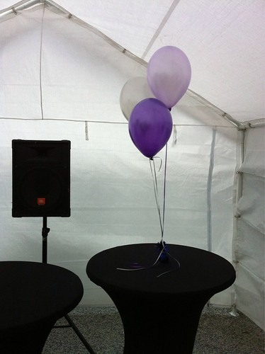 Tafeldecoratie 3ballonnen Paars, Lila, Zilver
