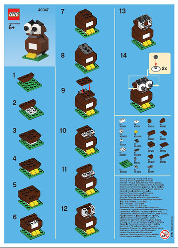 Lego Store September 2012 Mmmb Owl Instructions A Photo On Flickriver