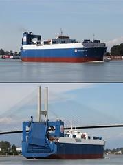 RO-RO Ship Skaubryn Heading Up The Fraser To New West. (rog45) Tags: canada canon ship bc 7d tugboat tug fraserriver roro 1822 shuswap oceanwarlock vessell rog45 skaubryn