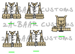 US Infantry WWII decals (zalbaar) Tags: world 2 usa infantry us war lego wwii american ww2 decal gi customs zalbaar