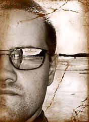 selfie (pukunui81) Tags: newzealand selfportrait reflection beach sunglasses sony auckland selfie karekare karekarebeach