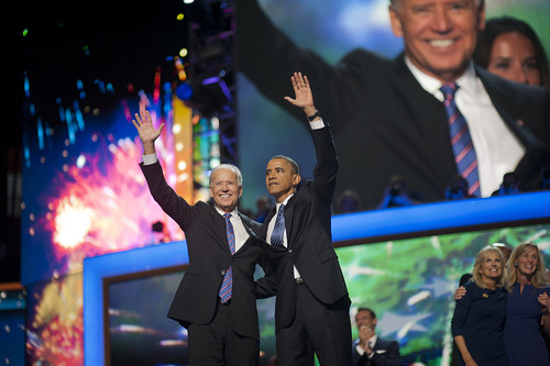 Barack Obama and Joe Biden at The DNC Co by Barack Obama, on Flickr